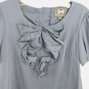 Forever 21 Tops - Forever 21 Button Back Princess Sleeve Bow Top S